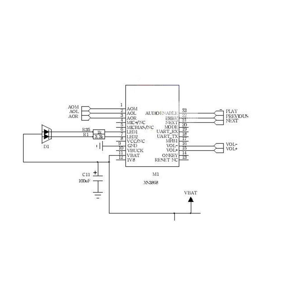 HiLetgo XS3868 Módulo de audio estéreo Bluetooth OVC3860 admite A2DP AVRCP: Amazon.es: Electrónica