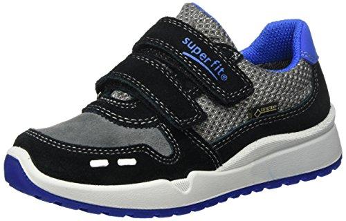 Superfit Jungen Strider Sneaker Grau (Schwarz Multi)