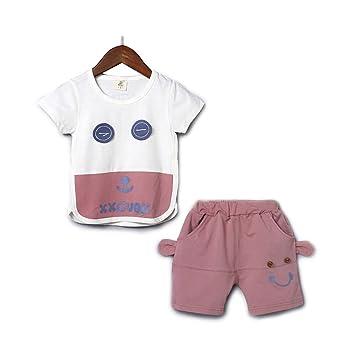 5110c8900537a9 Amazon   YiYa 子供服 2点セット 夏 女の子 男の子 ベビー 赤ちゃん ...