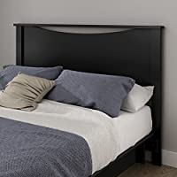 South Shore Gramercy Full/Queen Headboard (54/60), Pure Black