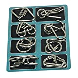 Shopaholic Metal Wire Puzzles,Test Mind Game Toys Brain Teaser,Gift for Kids Set of 8