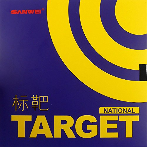 Sanwei TARGET (National) Pips-in Table Tennis Rubber (Blue Sponge) (Target Plastic Table)