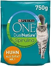 ONE DUAL NATURE voor volwassen katten kip met Spirulina kattendroogvoer zak, 750 g