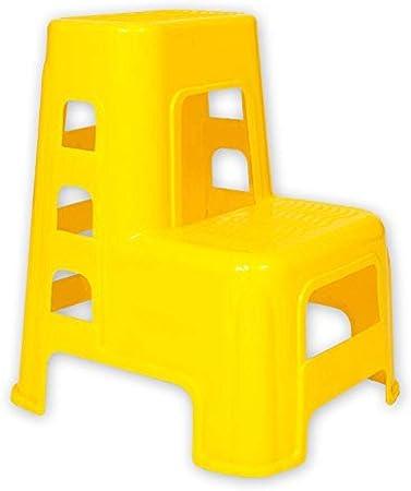 Geeks Escalera de plástico 2 para Adultos y niños Taburete para Lavado de Autos Utilitarios para el hogar Taburetes pequeños para pies Banco de Zapatos (Color: Amarillo) @Yellow: Amazon.es: Hogar