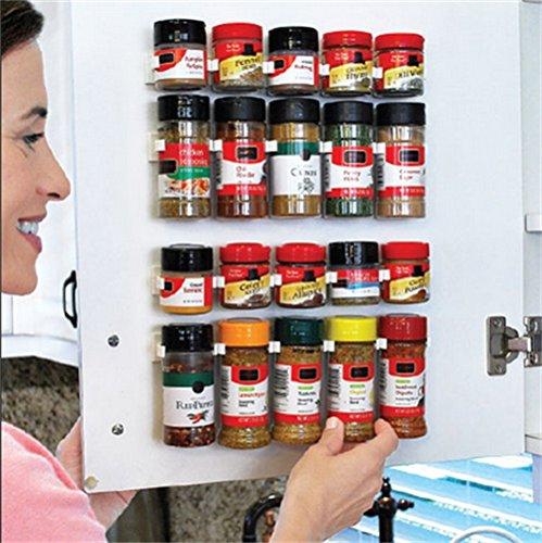 SPICE Rack de especias almacenamiento de pared cocina de plástico estante organizador