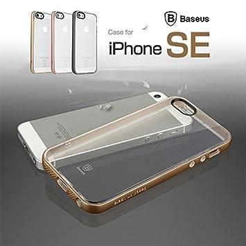 b1b14f6f71 iPhoneSE バンパーケース フレーム カバー /TPU 耐衝撃 クリア背面カバー付き アイフォンSE用