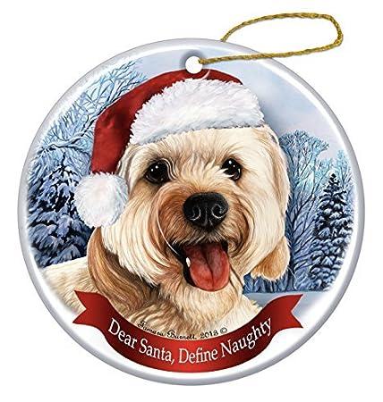 Holiday Pet Gifts Cavapoo Santa Hat Dog Porcelain Christmas Tree Ornament   Amazon.co.uk  Kitchen   Home bba8f8694