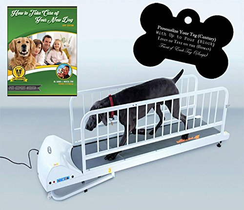 GoPet Petrun Indoor Exercise Treadmill for Dogs Up to 175 Pounds (Model #: PR-725) with FREE Custom Bone Shaped Dog Tag and E-Book by GoPet