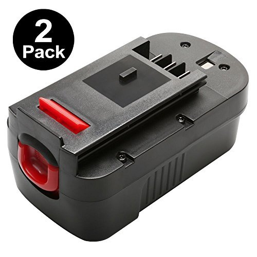[2-Pack] Forceatt HPB18 18V 3000mAh Ni-Cd Battery Replacement for BLACK&DECKER 18 Volt Cordless Power Tool HPB18-OPE 244760-00 Firestorm Fsx-treme FSB18 FS18C FS18BX FS180BX FEB180S A18 A1718 A18NH