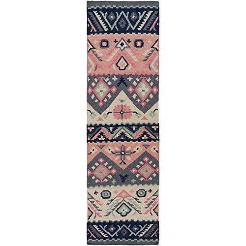 Surya JT2054-268 Hand Woven Casual Rug, 2-Feet 6-Inch by 8-Feet, (Surya Coral)