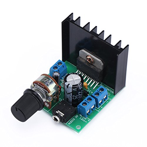 Dual Speaker Module (DROK TDA7297 15W+15W Audio Power Amplifier Module AC/DC 9-18V 2.0 Dual Channel Stereo Amp Board, DIY Sound System Component)