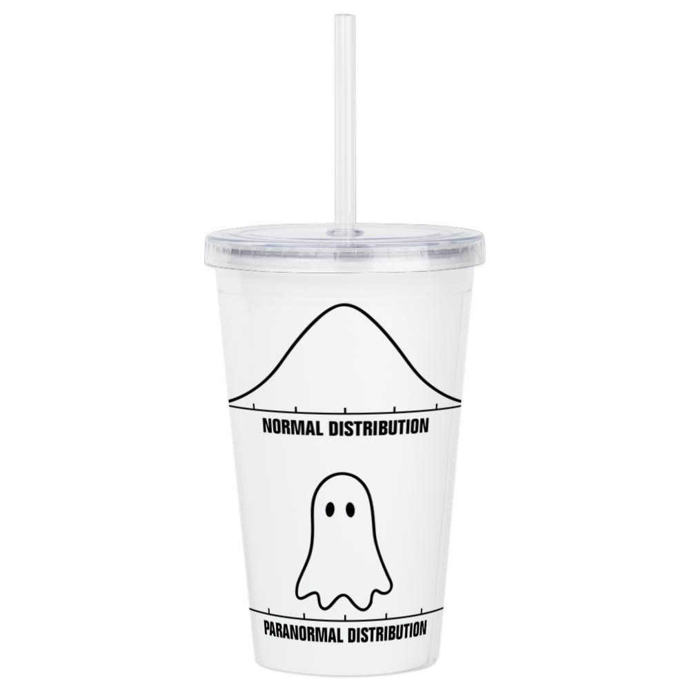 CafePress - Normal Vs Paranormal Distribution Acrylic Double-W - Insulated Straw Cup, 20oz Acrylic Double-Wall Tumbler