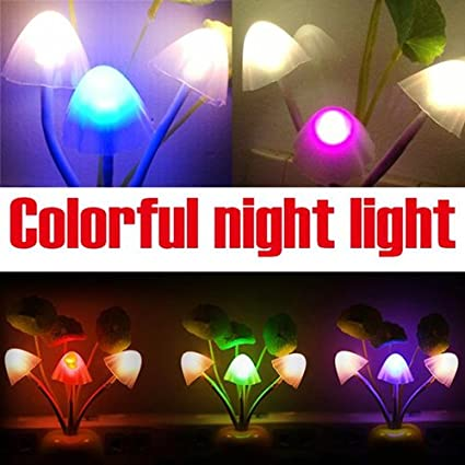 Amazon.com: EU Plug Light Sensor Lamp RGB LED Night Light AC 220V ...