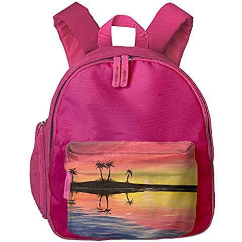 Dusk Kid's Shoulder Backpack School Bag For Teens Boys Girls Students Pink (Violin Size 1 2 Oxford)