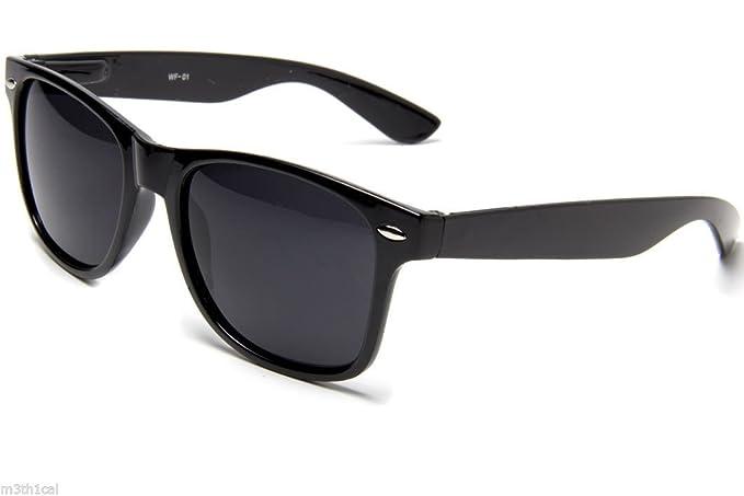 21b5e525068d Amazon.com  Rhode Island Novelty Black Wayfarer Style Sunglasses  Toys    Games