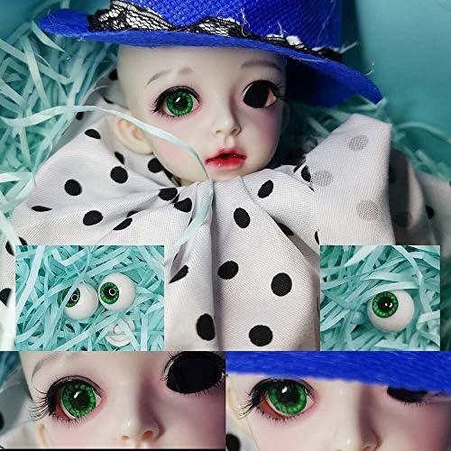 アリスの人形屋緑の花 bjd 目 8 ミリメートル 12 ミリメートル 14 ミリメートル 20 ミリメートル 22 ミリメートル bjd 眼球ため BJD 人形目手作り人形アクセサリー眼球 1/4 1/3 1/6 人形