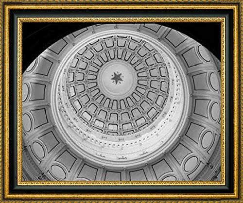 The Texas Capitol Dome, Austin Texas - Black and White by Carol Highsmith - 39.25
