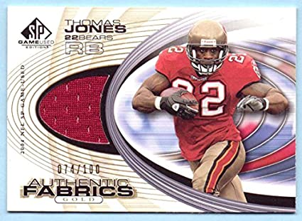 070930b3bad Thomas Jones 2004 SP Game Used Edition Authentic Fabric Game Worn Jersey  Gold #AF-
