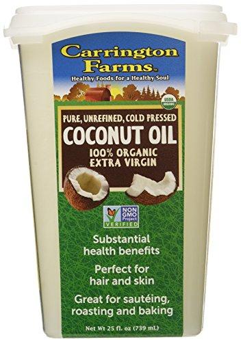 Carrington Farms Organic Coconut Oil, Unrefined, 25 Ounce