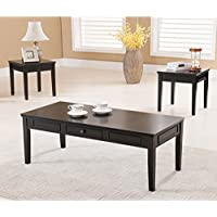 K & B Furniture T206 3 Piece Cocktail and End Table Set