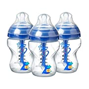 Tommee Tippee Advanced Anti-Colic, Baby Bottle, 9 Oz, 3 Ct, Blue, Boy