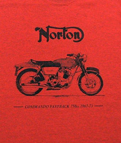 Norton Commando Remera - Antigua camisa naranja de tamaño ...