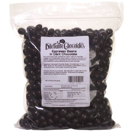 Espresso Dilettante Beans (Dark Chocolate Espresso Beans - 5lb Bulk Bag - by Dilettante)