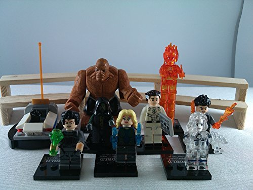 SUPAK® Fantastic Four Human Torch Mr.Fantastic The Thing Dr. Doom Invisible Woman Marvel MiniFigures Toy Super Heroes Series Action Figure Building Blocks Brikcs Set Compatible (Super Sonic Costume)