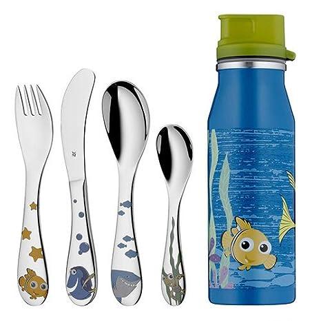 WMF Disney Buscando a Nemo - Cubertería para niños 4 piezas (tenedor, cuchillo de
