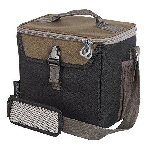 (PORTAL 16 Can Insulated Cooler Bag Soft Lined Small Shoulder Bag, Black )