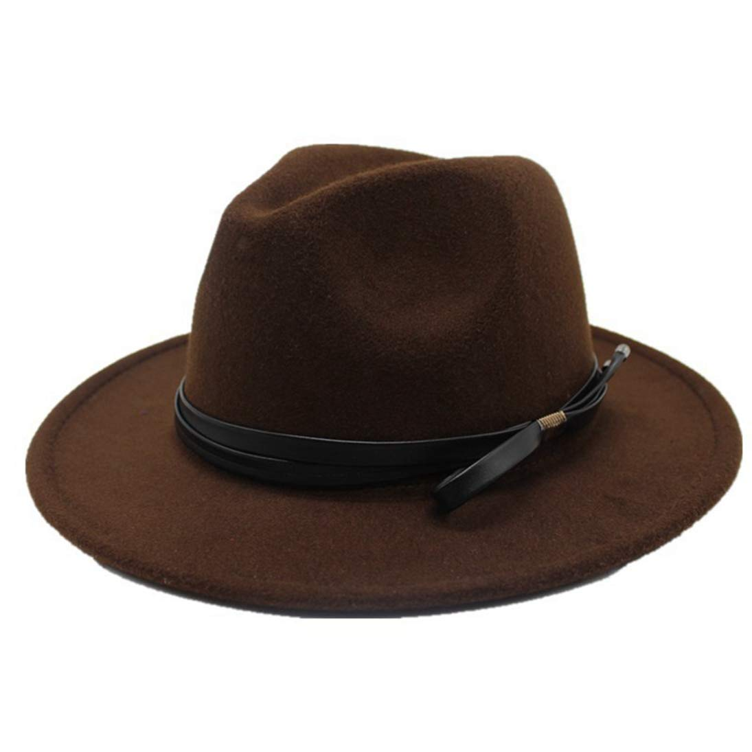 Fedora Hats Unisex Classic Timeless Wool Felt Hat Winter Ladies Elegant Vintage Wide Brim Jazz Hat Round Cap
