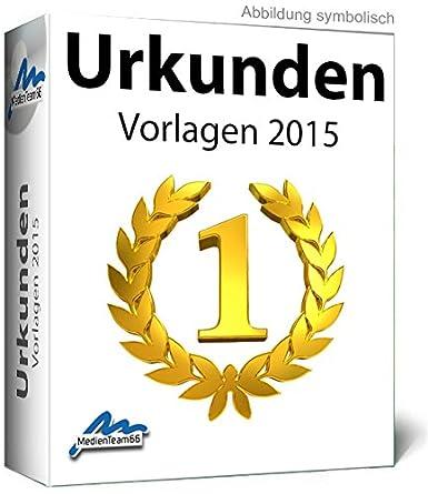 Urkunden 2015 Vorlagen: Amazon.de: Software