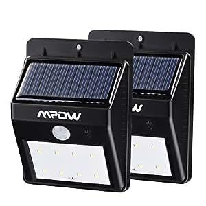 Focos solares 8 leds de pared mpow faro solar con sensor - Focos led solares ...