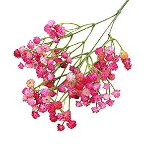 Lifelike,Realistic,Party Decor,135Heads 1Pc Artificial Gypsophila Fake Flower DIY Garden Wedding Party Home Decoration - Purple Pink 85