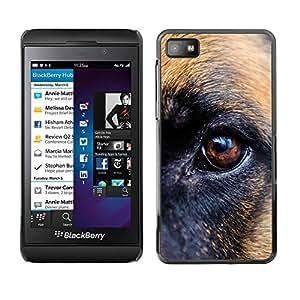 TopCaseStore / la caja del caucho duro de la cubierta de protección de la piel - German Shepherd Eye Brown Dog - Blackberry Z10