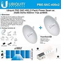 Ubiquiti PBE-5AC-400 2-PACK PowerBeam AC 25dBi 5ghz 400mm 11AC Airmax CPE/Bridge