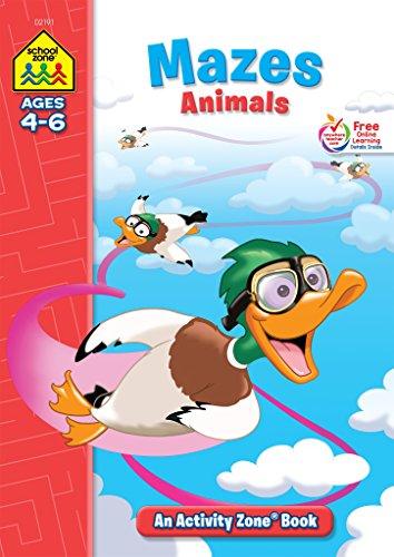 Mazes Animals Activity Zone Workbook Ages 4-6