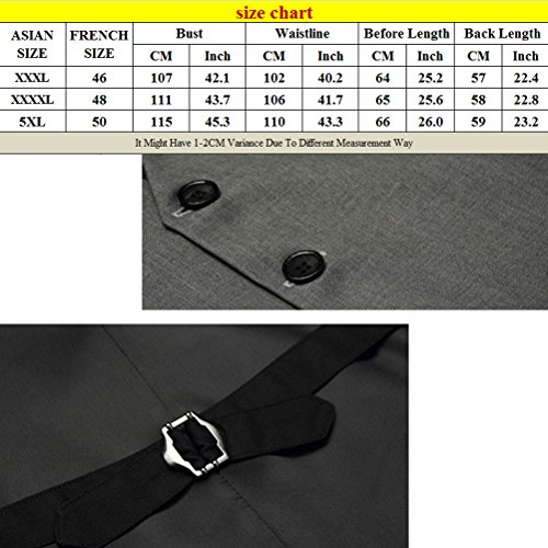 Business Quality respirable High Single Jacket Mens Breasted Vest Zhuhaitf V Down Button neck Suit gris WnYx1qxp