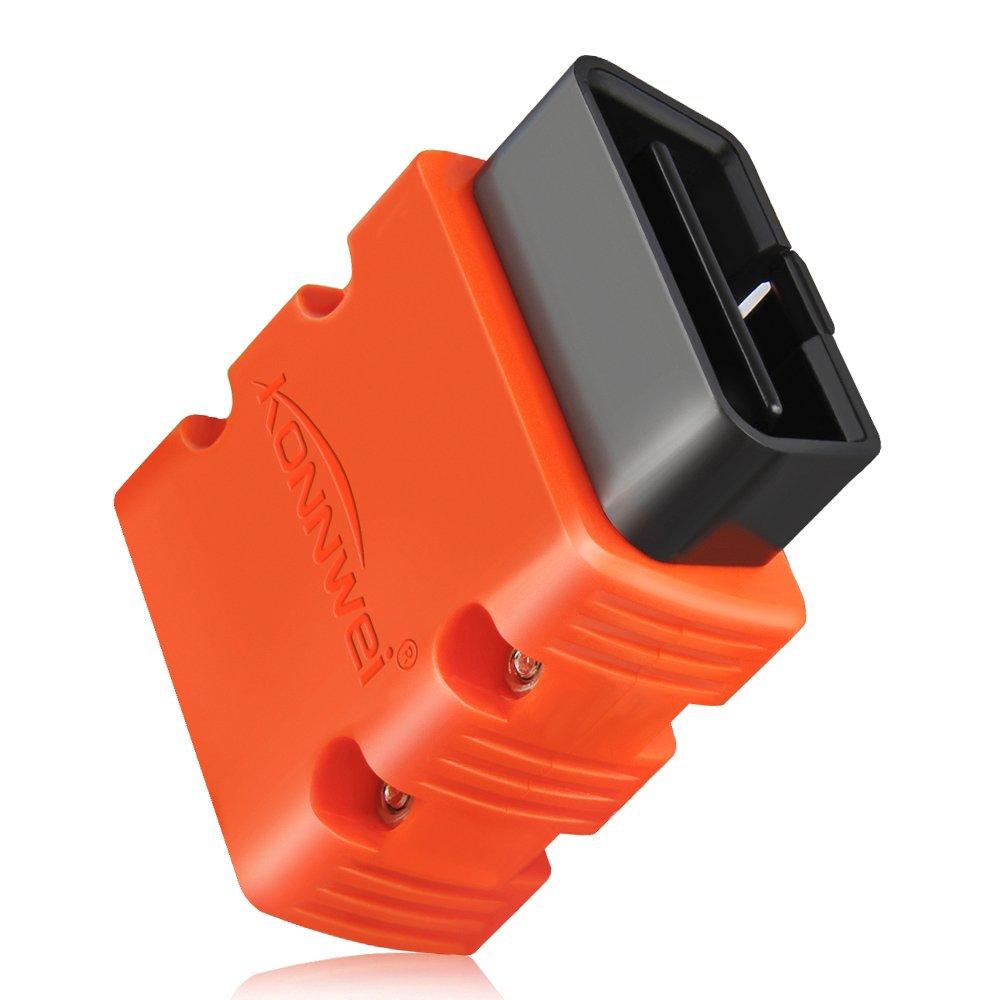 Bluetooth OBDII Diagnostic Tool KONNWEI KW902 Android Auto Diagnostic Scan Tool ELM327 OBD2 V1.5 Vehicel Engine Scanner Code Reader Support for All OBD2 Protocol Cars … (Orange)