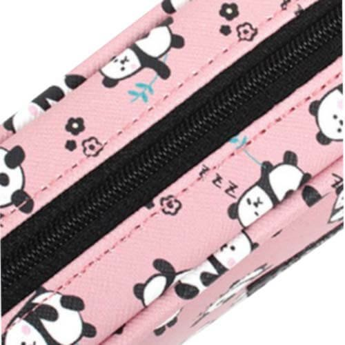 Animal Round Pencil Cases Pouch Pencil Holders Panda and Dog Design Set