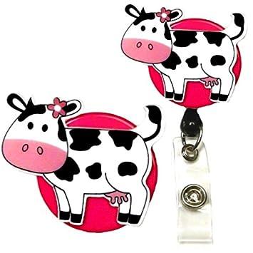 Amazon.com: Cutesy Vaca decorativos ID Badge Holder: Office ...