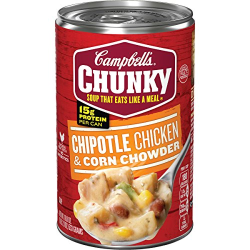 Campbell's Chunky Chipotle Chicken & Corn Chowder, 18.8 oz. Can (Pack of 12)