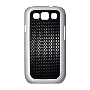 Samsung Galaxy S3 Case,Dark Metal Hexagons Grid Pattern Hard Shell Back Case for White Samsung Galaxy S3 Okaycosama450658