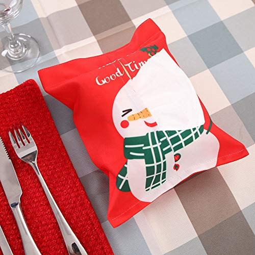 Christmas Gift Bags with Tissue Paper Bundle Towel Decoration Fabric Bag Cartoon Cloth Tissue Box (C) by baskuwish Christmas Decor (Image #1)