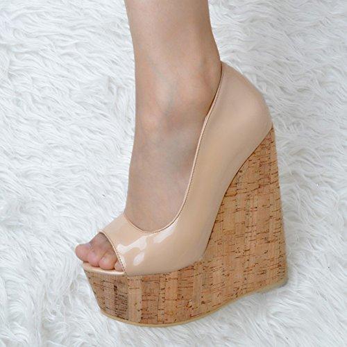 Kolnoo - Pantuflas de caña alta Mujer Beige