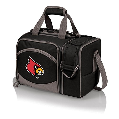 NCAA Louisville Cardinals Malibu Picnic Tote with Deluxe Picnic Service for Two - Picnic Time Deluxe Beach Bag