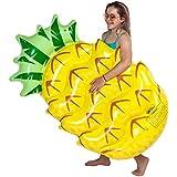 U.S. Pool Supply Huge 5 Foot Inflatable Pineapple Pool Float - Fun Kids Swim Party Toy - Summer Lounge Raft