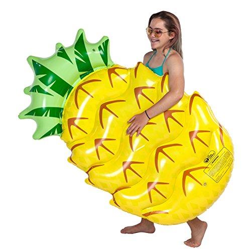 U.S. Pool Supply Huge 5 Foot Inflatable Pineapple Pool Float - Fun Kids Swim Party Toy - Summer Lounge Raft by U.S. Pool Supply