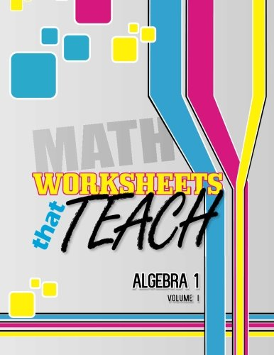 Worksheets That Teach: Algebra 1, Volume I (Volume 1) -  Quantum Scientific Publishing, Student, Paperback