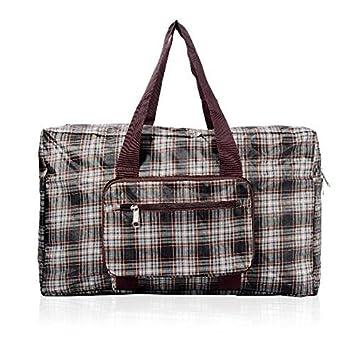 Faye UK Foldable Large Carry All Holdall Sports Bag - Green Tartan   Amazon.co.uk  Luggage 723426f2c2